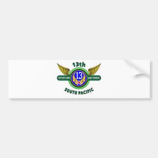 "13TH ARMY AIR FORCE ""SOUTH PACIFIC"" WW II BUMPER STICKER"