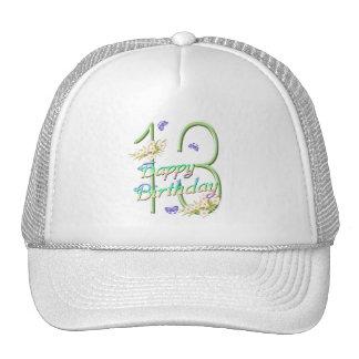 13th Birthday Butterfly Garden Hat