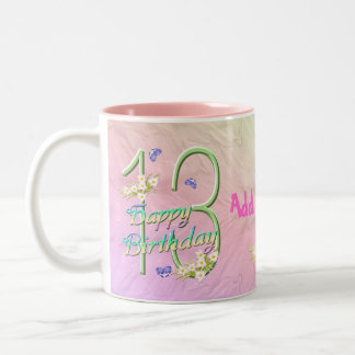 13th Birthday Butterfly Garden Mug