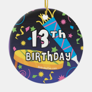 13th Birthday Ceramic Ornament