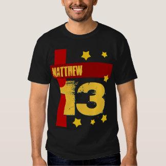 13th Birthday Custom Name BLACK RED GOLD V2 T-Shirt