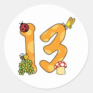 13th Birthday Garden Theme Sticker