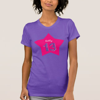 13th Birthday Gift Big Star Custom Name v01 T-Shirt