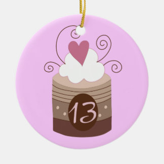 13th Birthday Gift Ideas For Her Double-Sided Ceramic Round Christmas Ornament