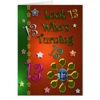 13th Birthday (Jewels) Card
