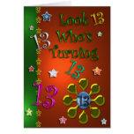 13th Birthday (Jewels) Greeting Card