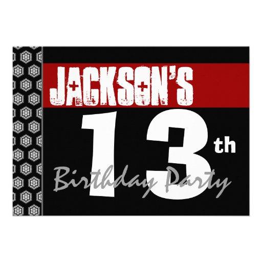 Personalized 13th birthday Invitations – 13 Birthday Invitations