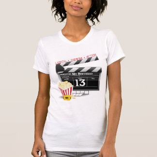 13th Birthday Movie Party Tee Shirt