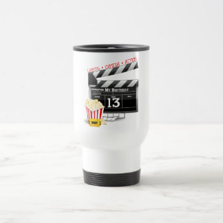 13th Birthday Movie Party Travel Mug