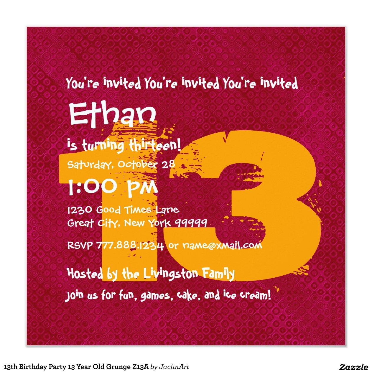 13 year birthday card ideas 13th birthday party 13 year