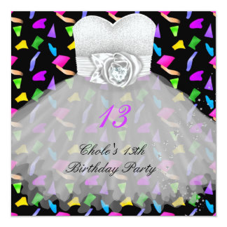 13th Birthday Party Girls 13 Teen Card