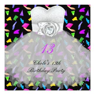 13th Birthday Party Girls 13 Teen Invitation
