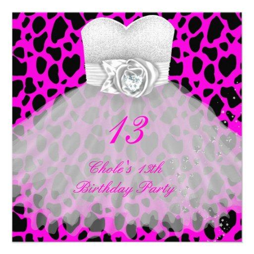3Th Birthday Party Girls Teen Invitation