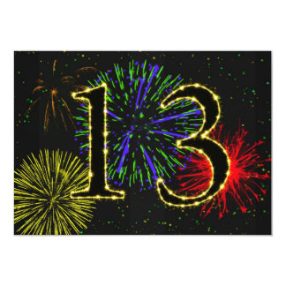 13th birthday party invitate card