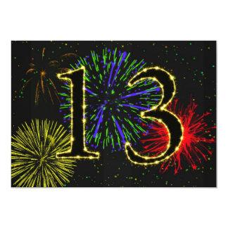 13th birthday party invitate 5x7 paper invitation card