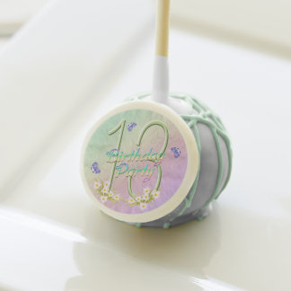 13th Birthday Party Rainbow and Butterflies Cake Pops