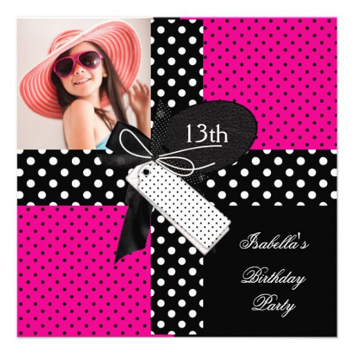 13th Birthday Party teenager girls 5.25x5.25 Square Paper ...