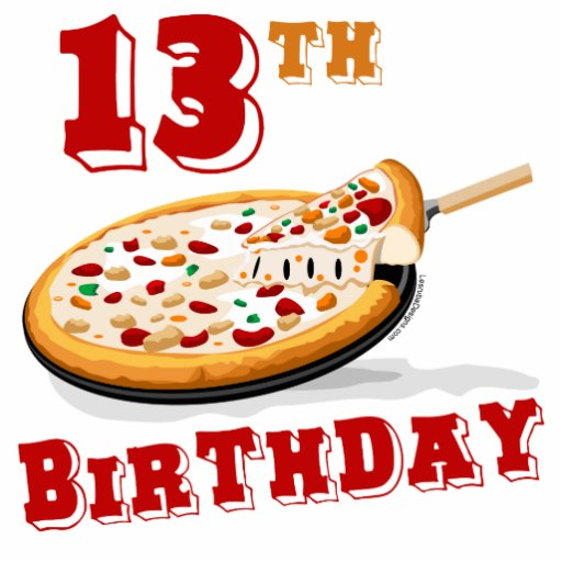 13th Birthday Pizza Party Cutout