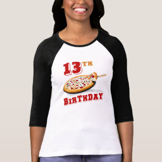 13th Birthday Pizza Party T Shirt