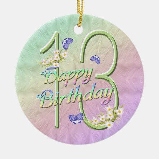 13th Birthday Rainbow Keepsake Ornament