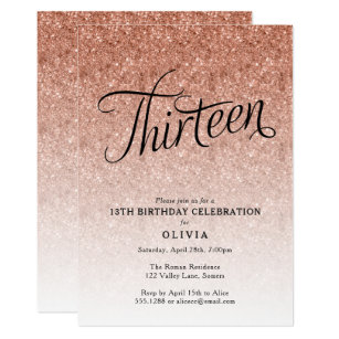 13th Birthday Invitations Announcements Zazzle