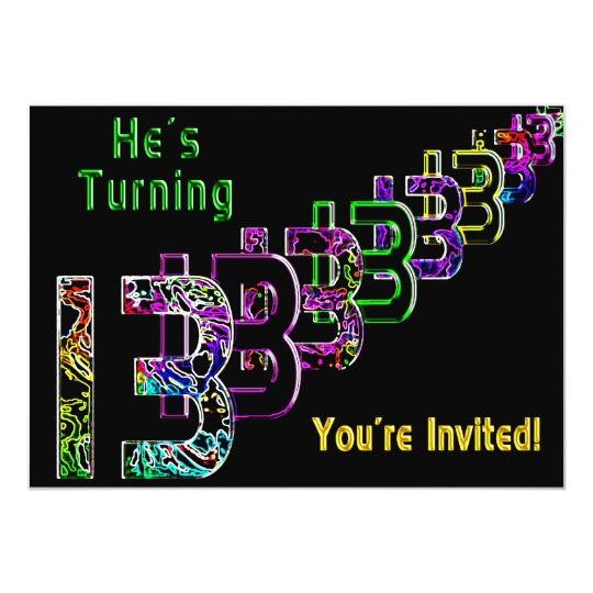 13th Birthday - Teen Invitation - Colorful