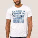 13th Birthday Thirteen Rocks BLUE 2 T-shirts