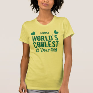 13th Birthday World's Coolest 13 Year Old I13C T Shirt