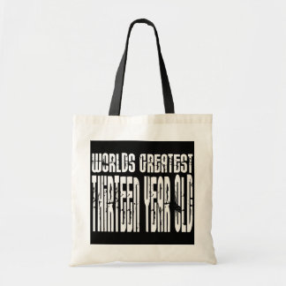 13th Birthday : Worlds Greatest Thirteen Year Old Canvas Bags