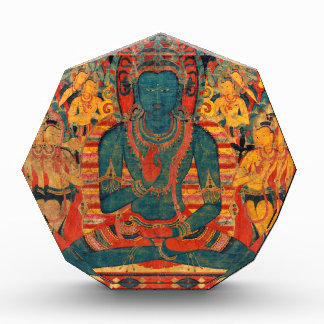 13th Century Transcendent Buddha w/ Bodhisattvas Acrylic Award