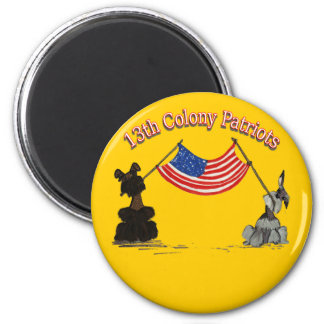 13th Colony Patriots 2 Inch Round Magnet