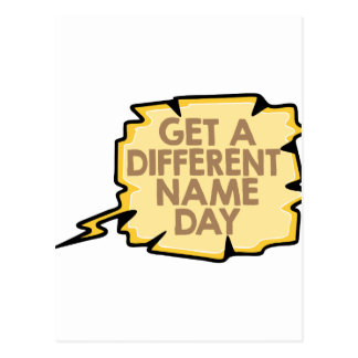 13th February - Get A Different Name Day Postcard