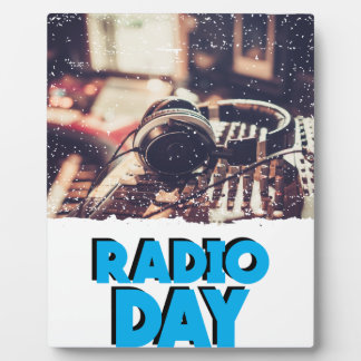 13th February - Radio Day - Appreciation Day Plaque