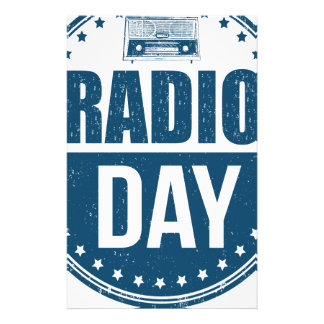 13th February - Radio Day - Appreciation Day Stationery
