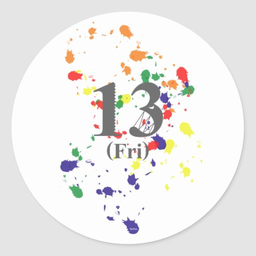 13th Friday Round Stickers
