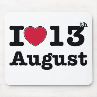 13th july birthday design mouse pad