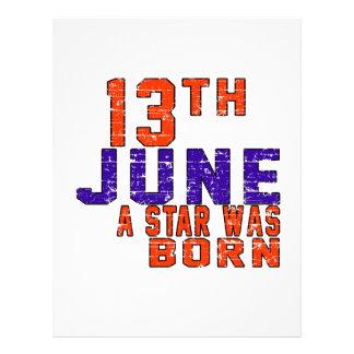 13th June a star was born Letterhead Design