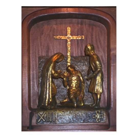13th Station of the Cross Postcard