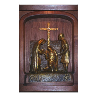 13th Station of the Cross Poster