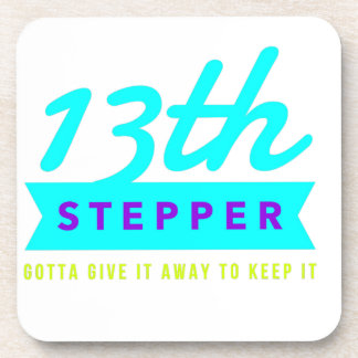 13th Step Sobriety Fellowship Recovery Beverage Coaster