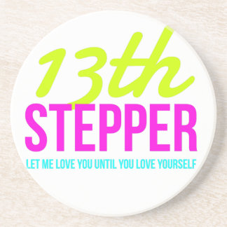 13th Step Sobriety Fellowship Recovery Sandstone Coaster