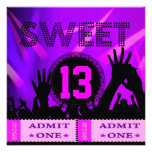 13th Sweet 13 Birthday Party Tickets Fun Personalized Invitation