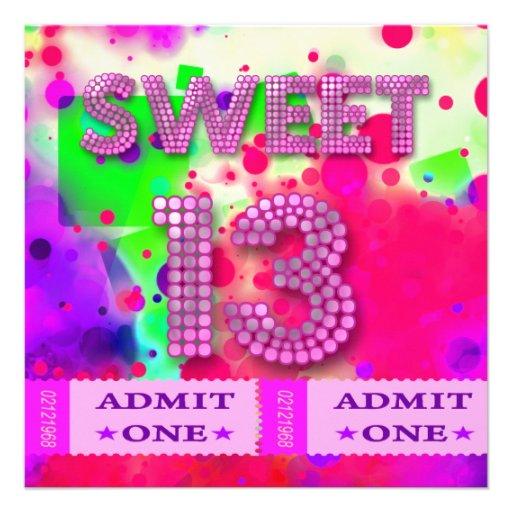 Personalized 13th birthday Invitations CustomInvitations4Ucom