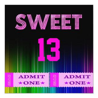 13th Sweet 13 Birthday Party Tickets Fun Invite