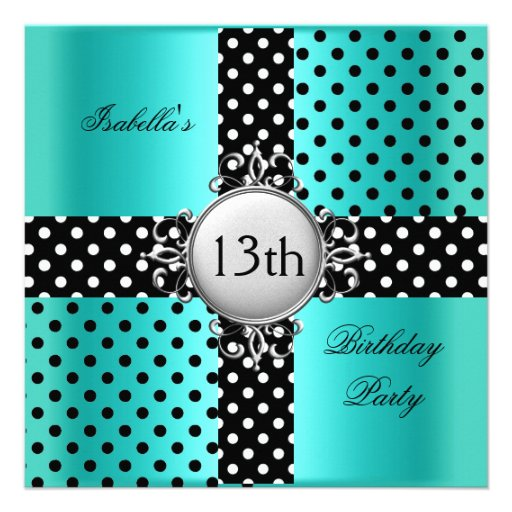 Personalized 13th birthday party Invitations – 13th Birthday Party Invitations for Boys