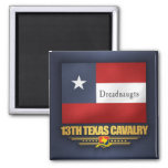 13th Texas Cavalry (v10) 2 Inch Square Magnet