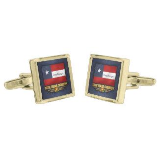 13th Texas Cavalry (v10) Gold Cufflinks