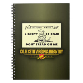 13th Virginia Infantry (Co B) Spiral Notebook