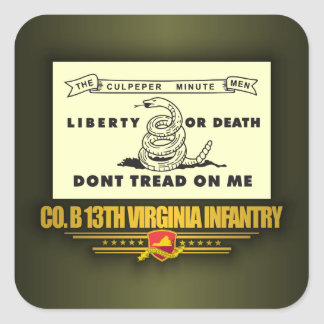 13th Virginia Infantry (Co B) Square Sticker