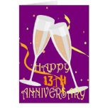 13th wedding anniversary champagne greeting cards